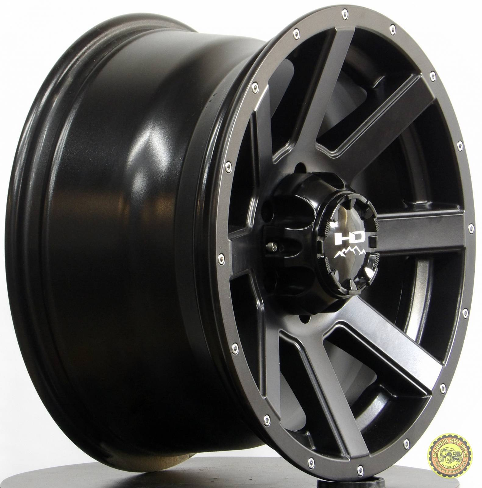 Roda 17x9 HD02, furação 6x139,7, off set -12 TROLLER e PICKUPS - Marisco Off Road