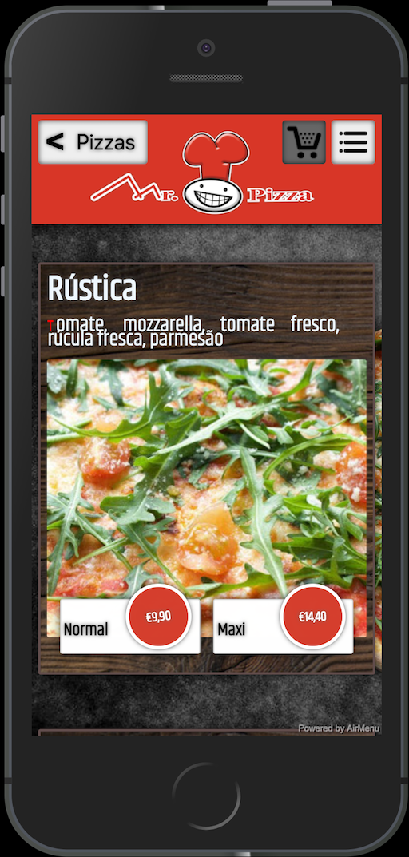 app air menu