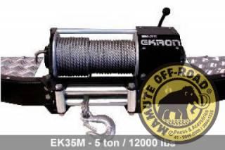 Guincho Mecânico Ekron EK35M Toy Band e Jeep Willys- 5Ton com cabo de aço