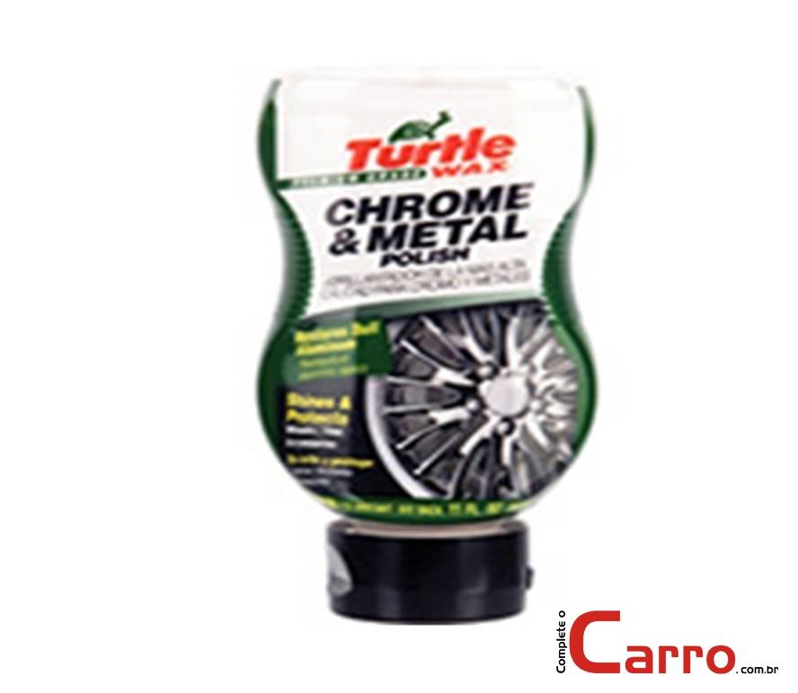 Polidor de Metais e Cromados Turtle Wax - Chrome & Metal Pol