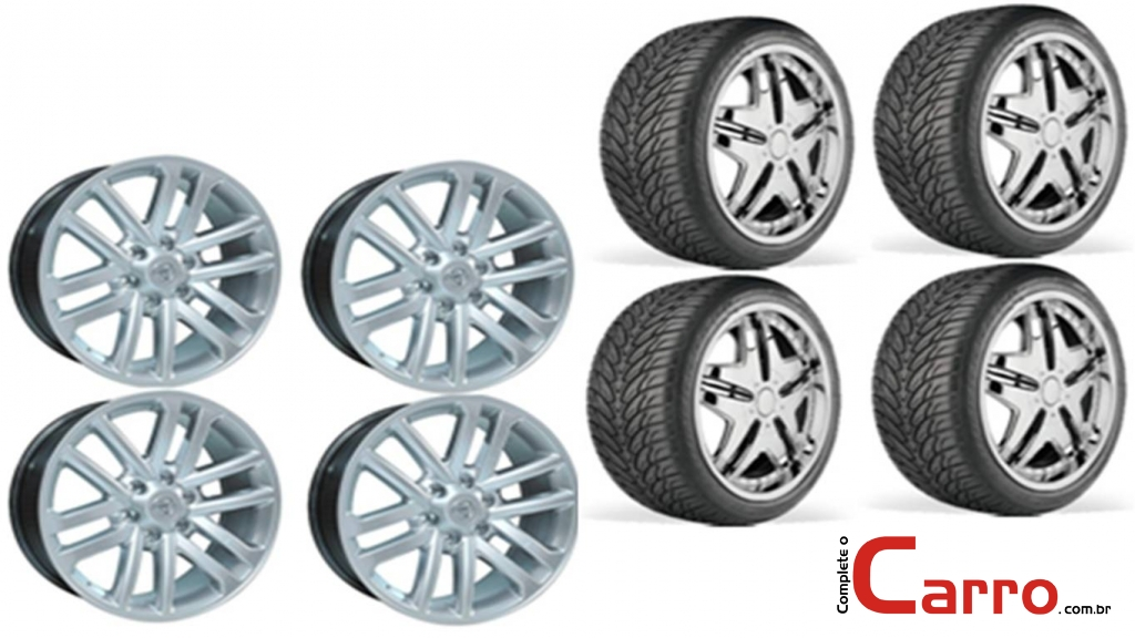 Jogo de Rodas Nova Toyota Hilux Aro 20' + 4 Pneus 265/50 R20