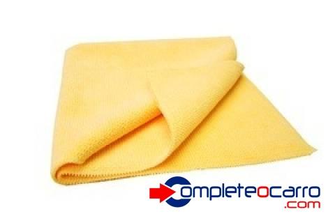 Flanela de Microfibra Amarela - 30x30 - Super Macia - Complete o Carro