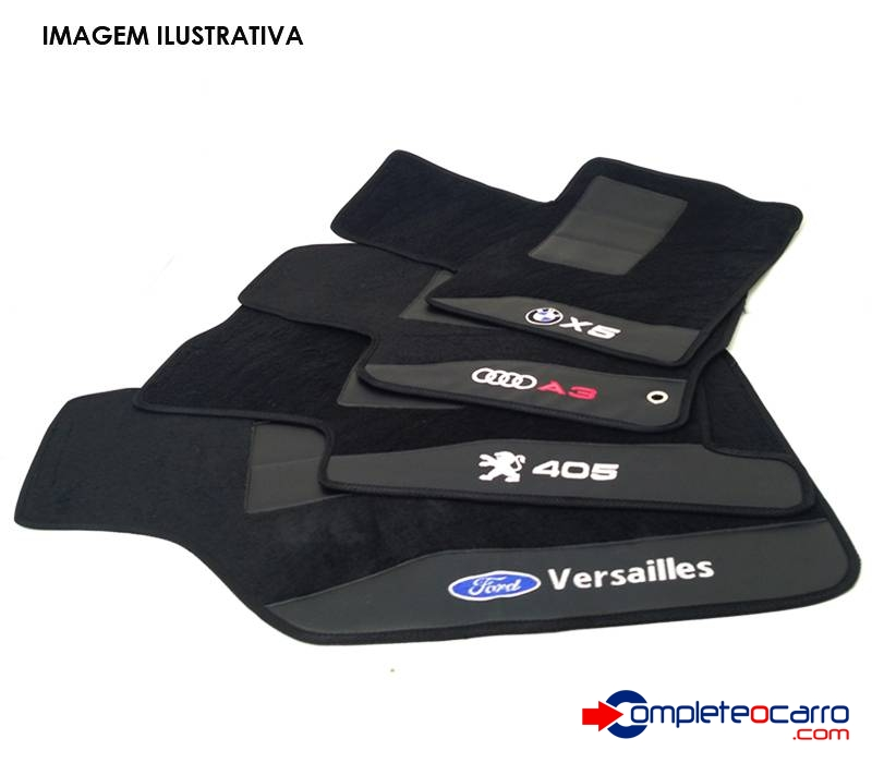 Jogo de Tapetes Personalizados Kia - Sorento 2004/2009 - 3 P - Complete o Carro