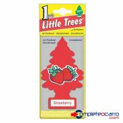Aromatizante Little Trees - morango - Car Freshner