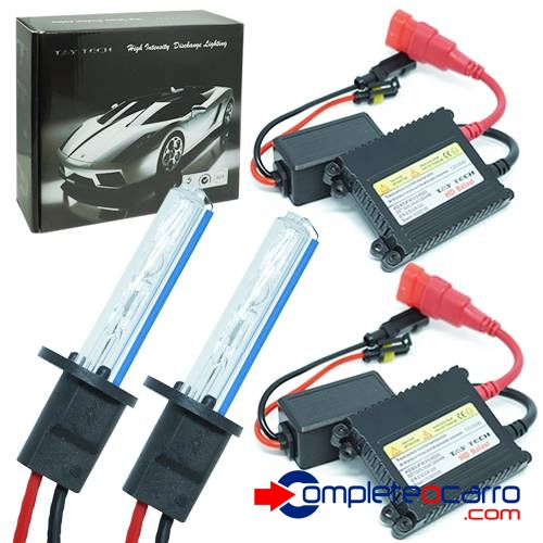 Kit Xenon Automotivo H8 8000K - 12V, 35W Tay Tech - Complete o Carro
