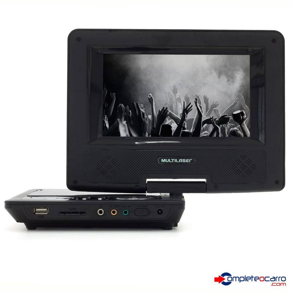 DVD Automotivo Portátil 7 Polegadas - Encosto de Cabeça  Mul - Complete o Carro