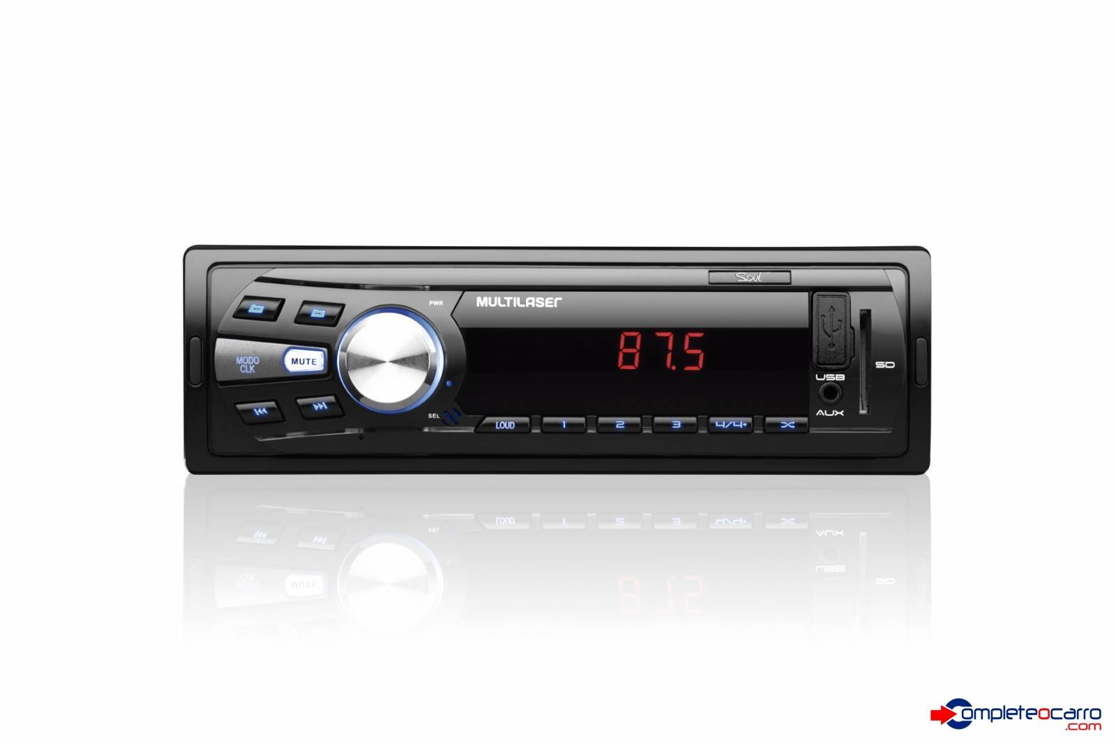 Rádio Automotivo Multilaser P3294, Fm, Usb, Aux, Sd - Complete o Carro