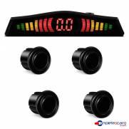 Sensor de estacionamento com LED Multilaser 4 Pontos   Preto   AU015