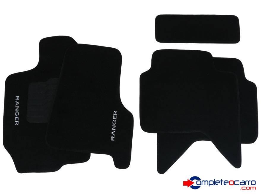 Tapete Ecológico Personalizado Ford Ranger CD 98/12 - Preto  - Complete o Carro