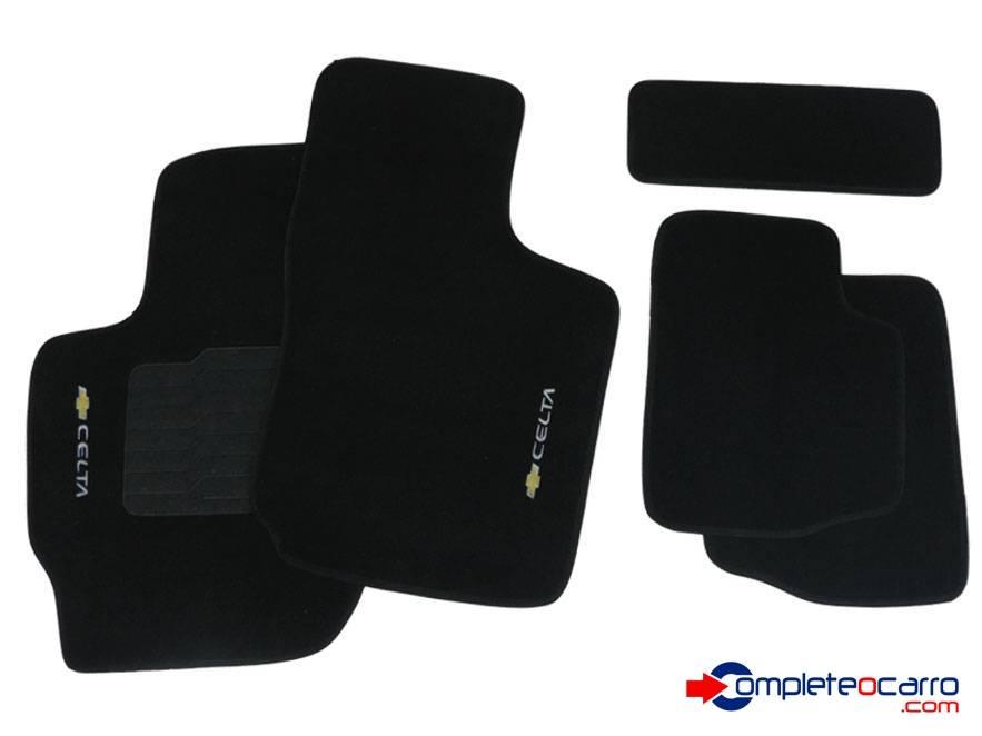 Tapete Ecológico Personalizado GM Celta 00/... - Preto C0397 - Complete o Carro