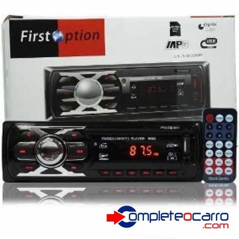 Rádio Som Automotivo MP3, FM, USB, Cartão SD, Controle Remot - Complete o Carro