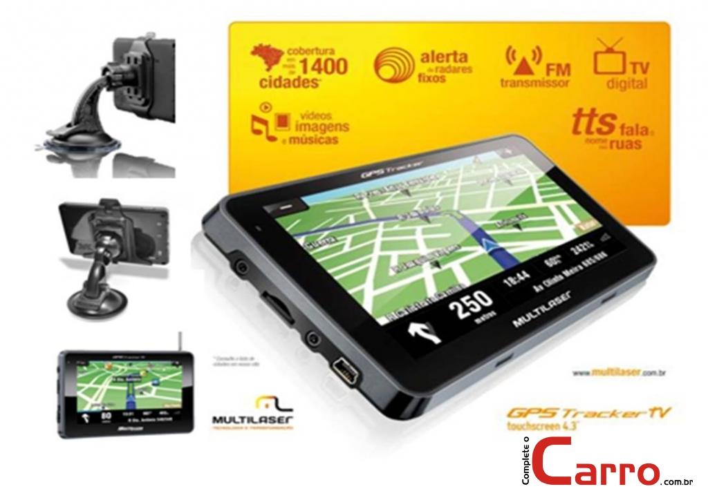 GPS Multilaser GP012 4,3 Polegadas C/ TV Digital -  Fala Nom - Complete o Carro