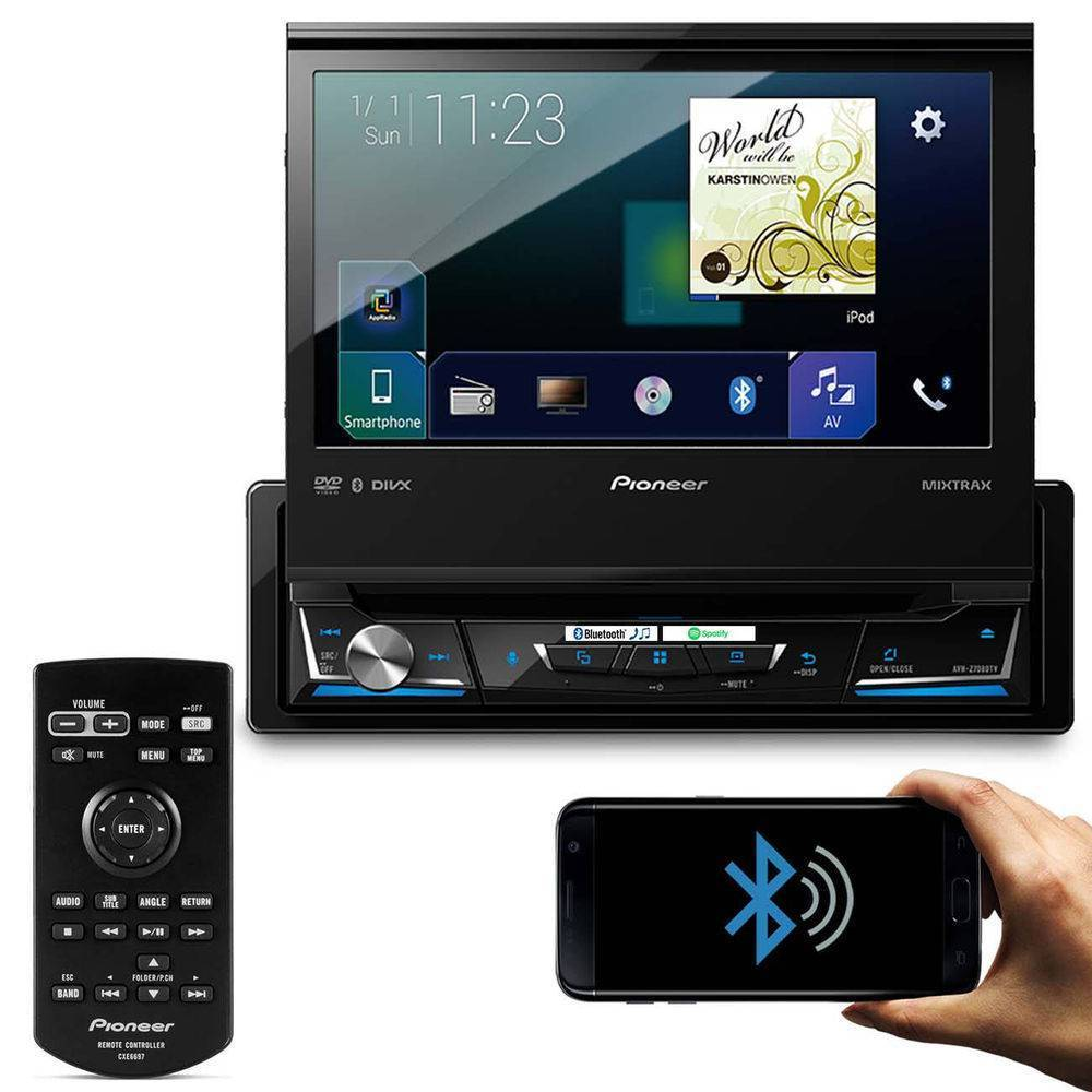 Dvd Player Pioneer Avh-Z7180tv - TV DIGITAL, BLUETOOTH, Waze - Complete o Carro