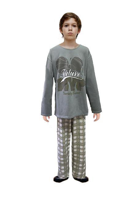 PIJAMA MANGA LONGA PELUCIADO JOGOS - Bons Sonhos Pijamas