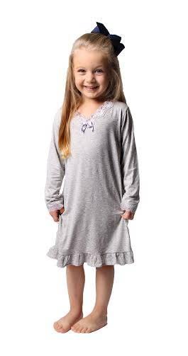CAMISOLA INFANTIL ML COM RENDA- TEREZA - Bons Sonhos Pijamas