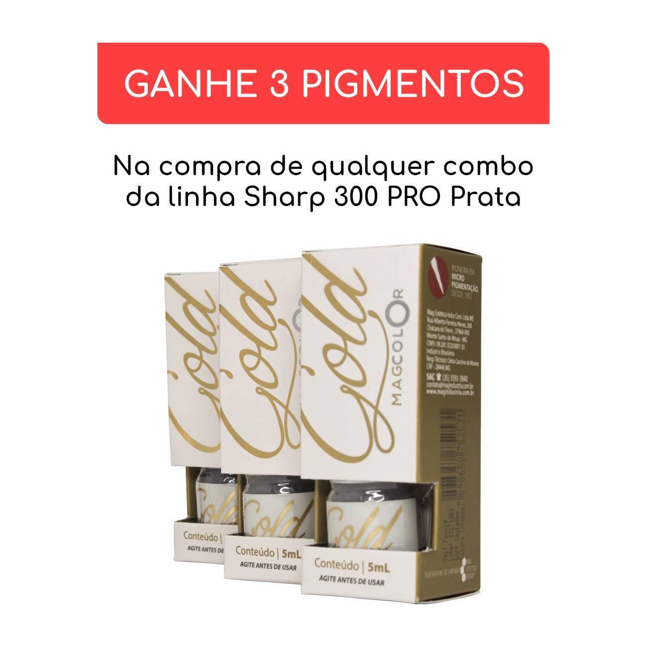 COMBO CONTROLE SIRIUS DARK + SHARP 300 PRO - PRATA - Dermocamp