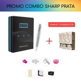 COMBO CONTROLE SLIM DARK + SHARP 300 PRO - PRATA