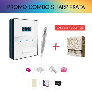 COMBO CONTROLE SLIM WHITE / PRETO + SHARP 300 PRO - PRATA
