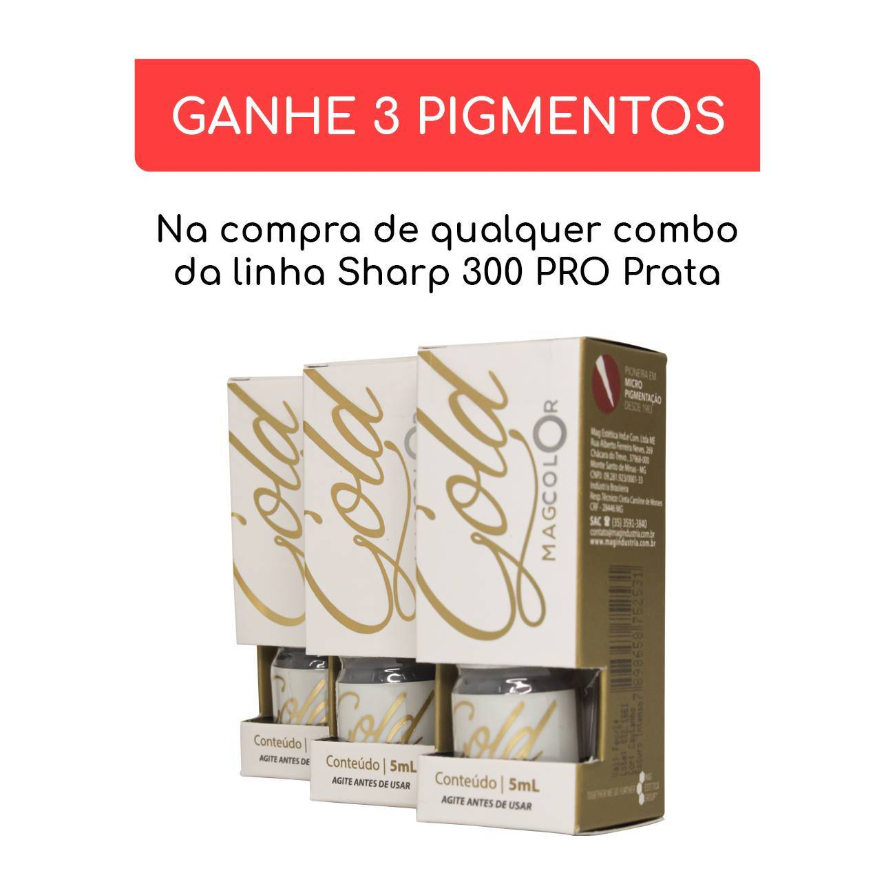 DERMOGRAFO - SHARP 300 PRO PRATA + ELIPSE CRISTAL| DERMOCAMP - Dermocamp