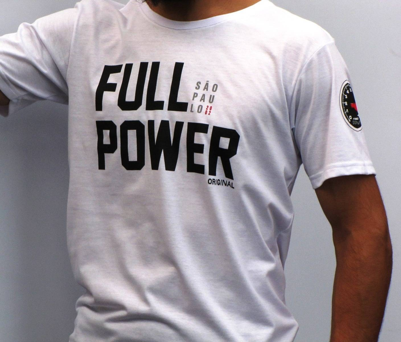 Camiseta Fullpower - SP Branca P - Loja FullPower