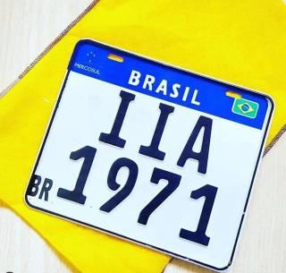 Placa Custom Mercosul Moto - 1 Placa