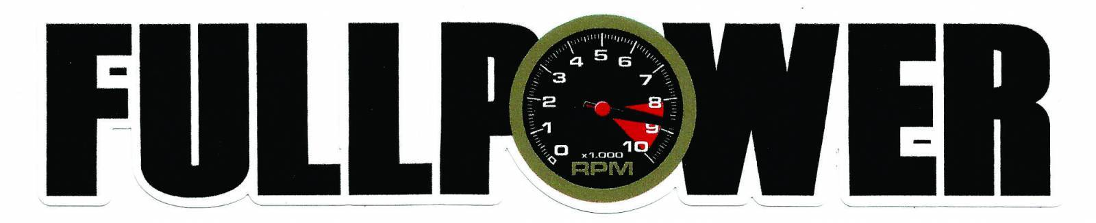 Adesivo Fullpower Preto - Loja FullPower