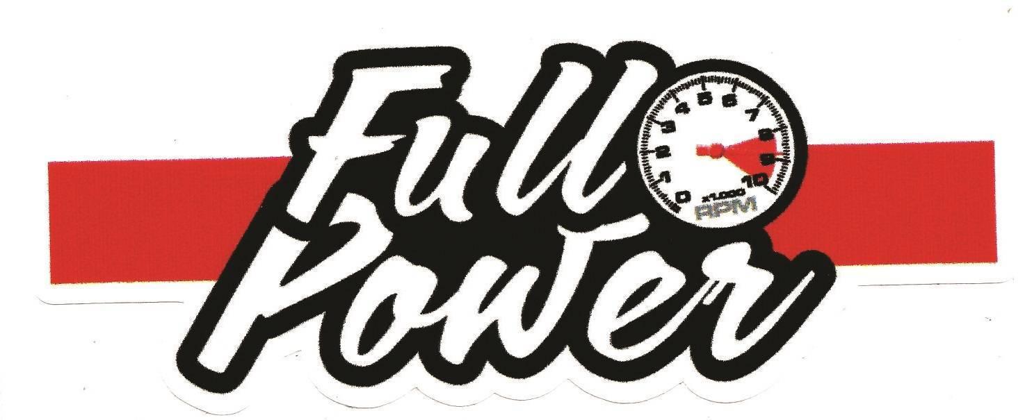 Adesivo FullPower Faixa Vermelha - Loja FullPower