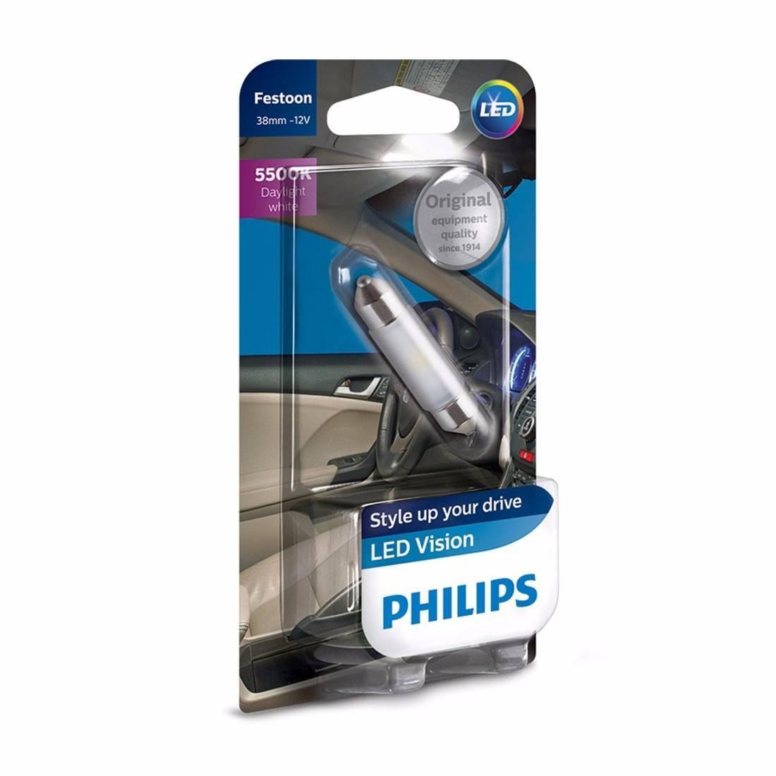 LED Automotivo Philips Festoon 38mm 10w 12v - Torpedinho - Loja FullPower