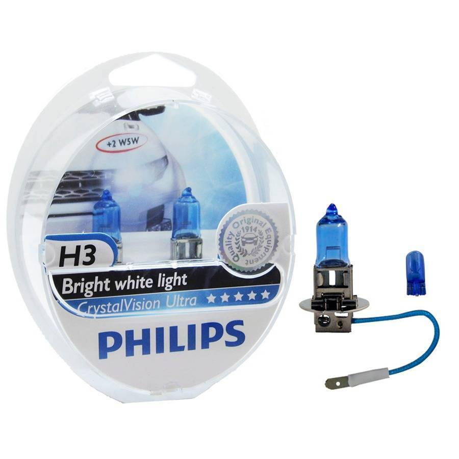 Kit Par Lâmpada Super Branca Philips Crystal Vision Ultra H3 - Loja FullPower