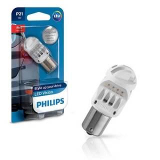 Lâmpada Para Lanterna Traseira Philips Led Red P21W 12V 1 Polo Unitário