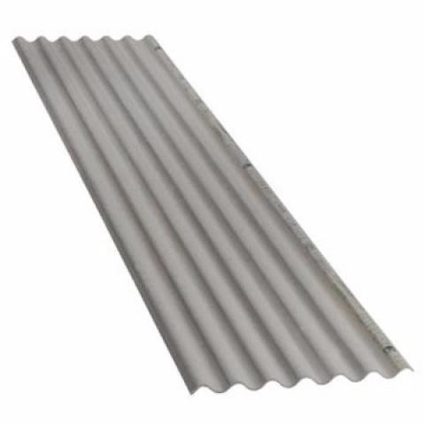 Telha Fibro-Cimento 4mm Cinza 2,44 X 0,50M (Sem Amianto) - Bavcom Tijolão Materiais de construção