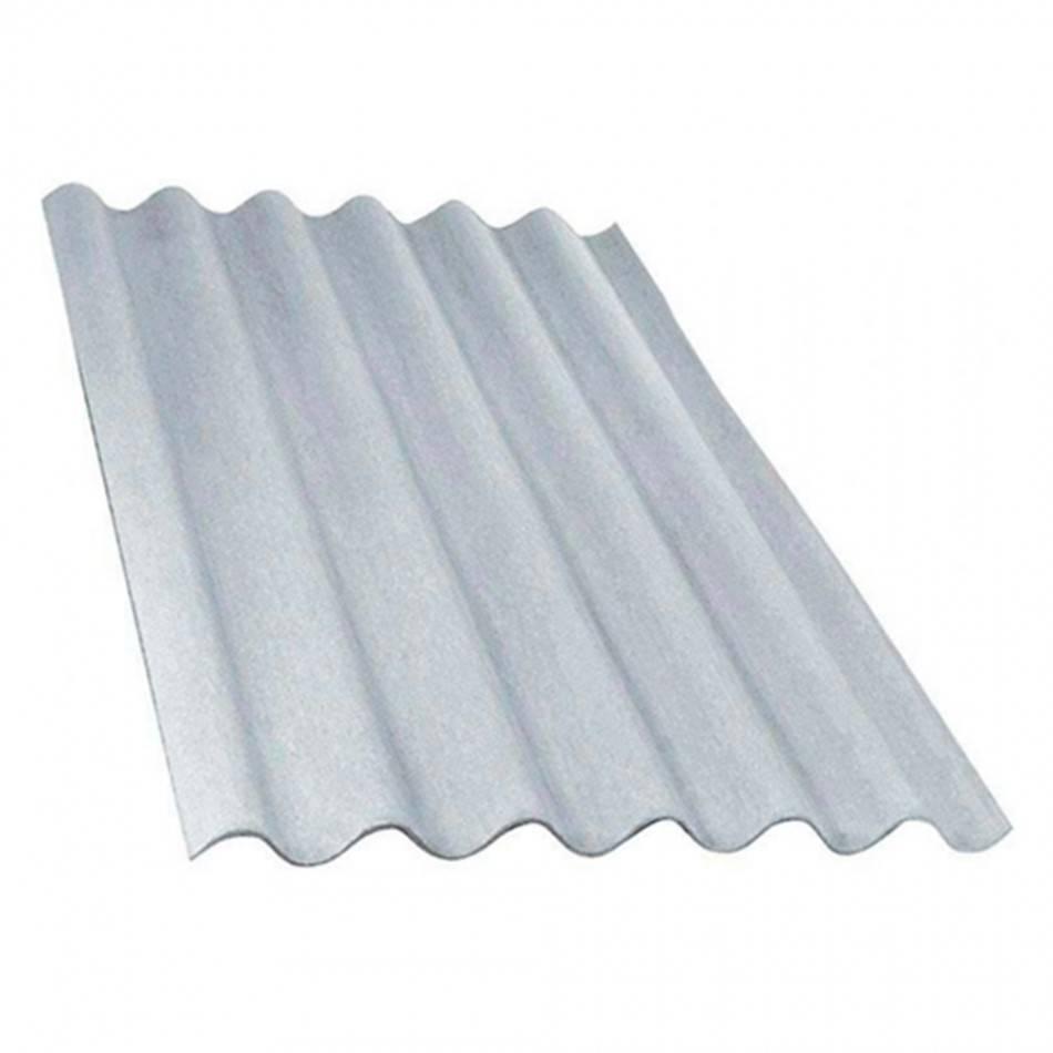 Telha Fibro-Cimento 6mm Cinza 1,83 X 1,10M (Sem Amianto) - Bavcom Tijolão Materiais de construção