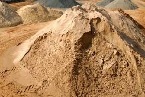 Areia fina para reboco - carga