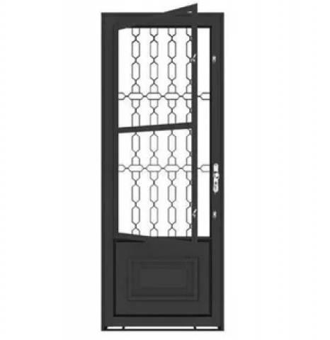 Porta Ferro Machado Elo 2,15 x 0,85 Cx6 Abertura Direita - Bavcom Tijolão Materiais de construção