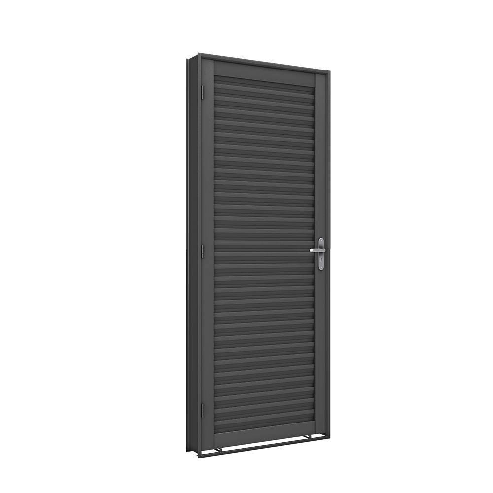 Porta Ferro Machado Laminada 2,15 x 0,85 Cx6 Abertura Esquerda - Bavcom Tijolão Materiais de construção