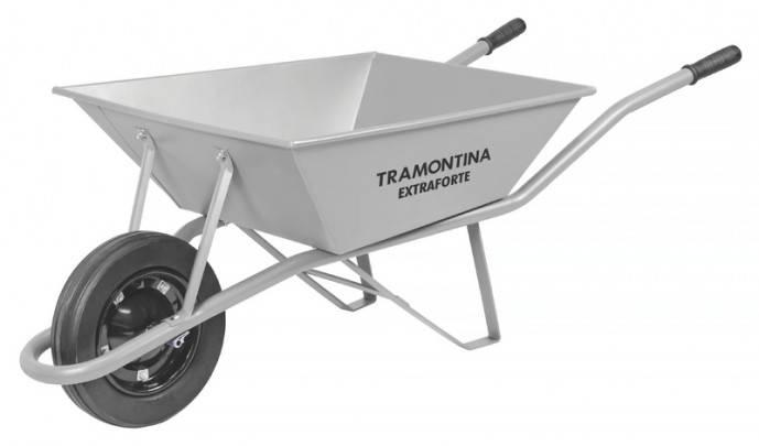 Carrinho de Mão Tramontina 70l Extraforte Cinza