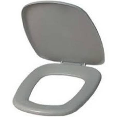 Assento Sanitário Astra Thema Almofadado Cinza 48