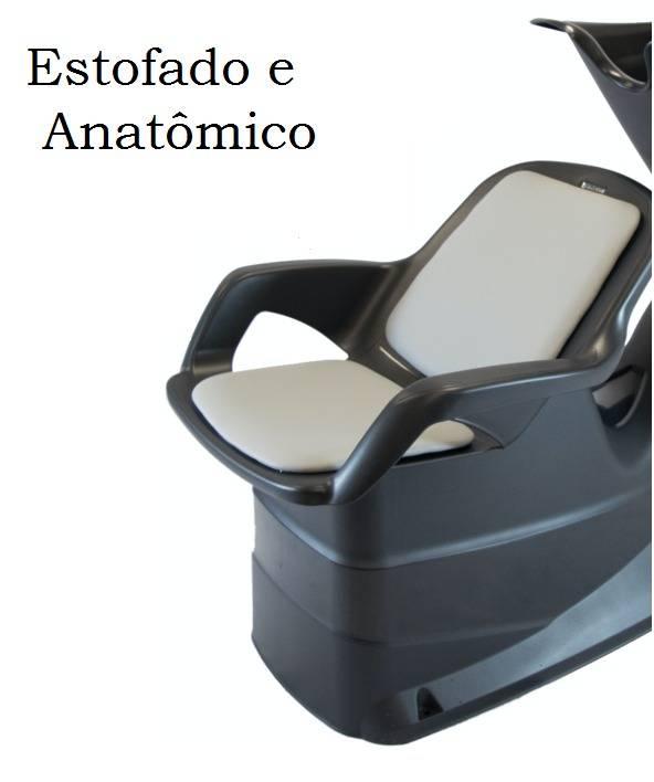 DOMPEL LAVATÓRIO CHAMP PRETO ESTOFADO CINZA
