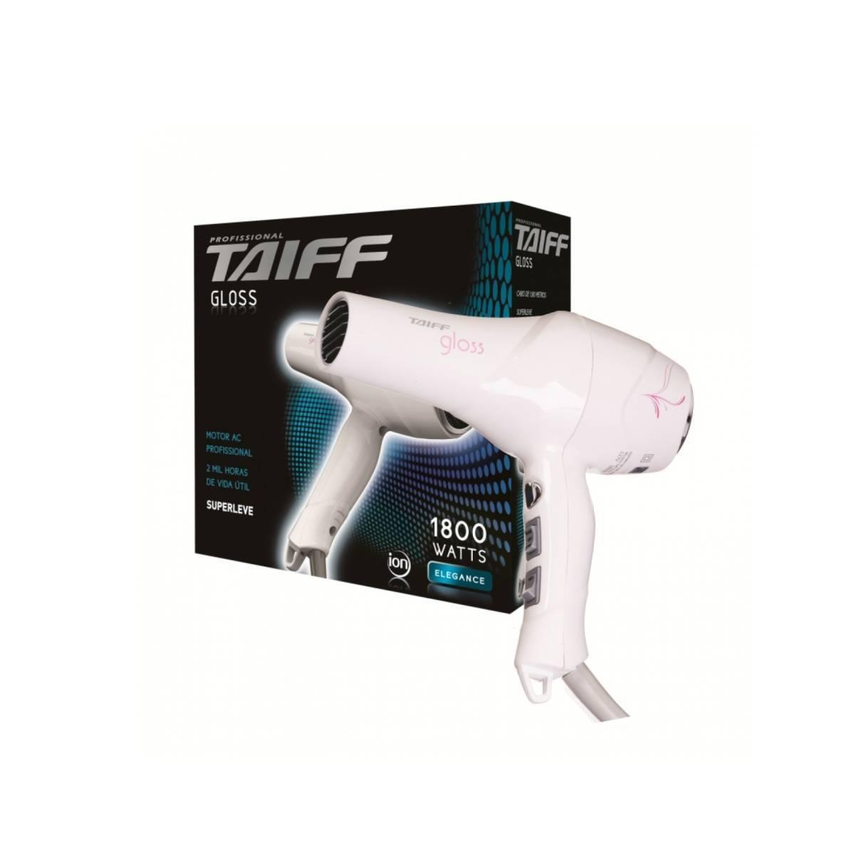 Secador de Cabelo Taiff Gloss 1800W