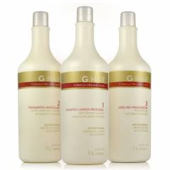 Kit Escova Progressiva Inoar G.Hair Alemã 3x1 Litro