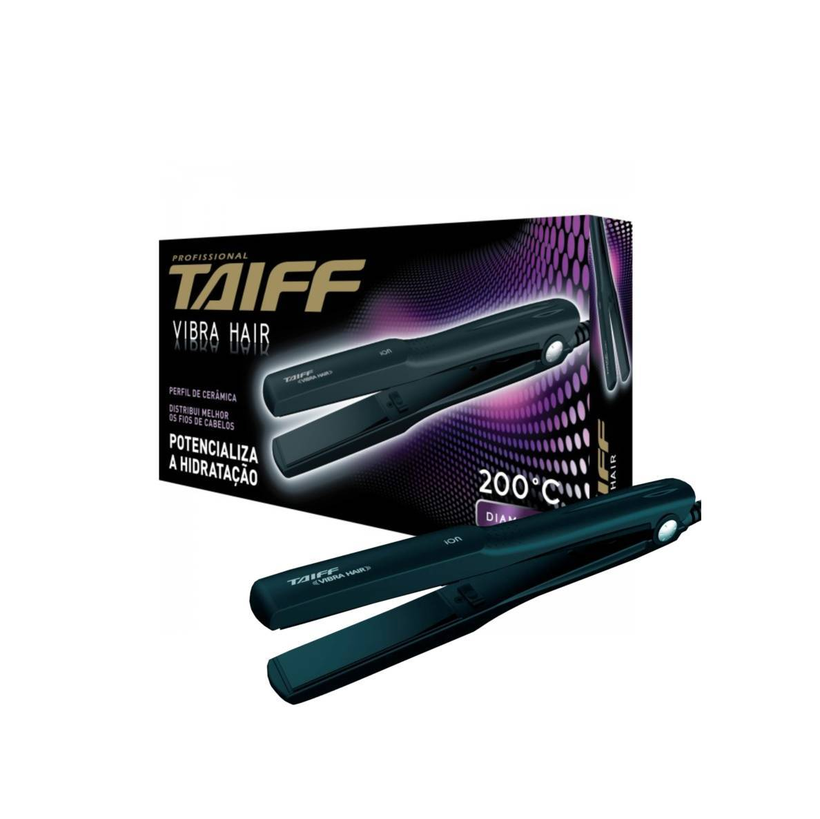 Chapa/Prancha Taiff Vibra Hair - Bivolt