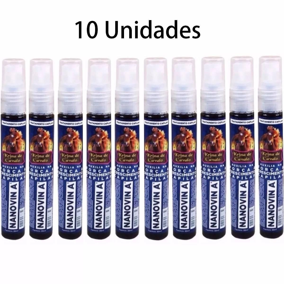 Nanovin A Krina de Cavalo Tonico Crescimento Capilar Kit c/