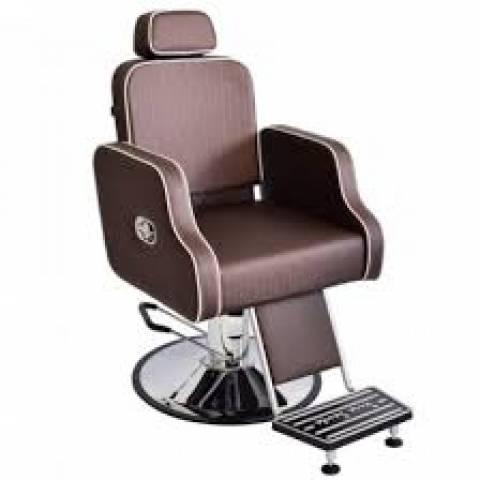 Poltrona Cadeira Barbeiro Greco Reclinável Terra Santa