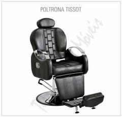 Poltrona Cadeira Barbeiro Tissot Reclinável Terra Santa