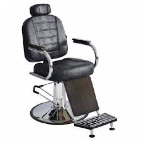 Poltrona Cadeira Barbeiro Matisse Retrô Reclinável Terra Santa