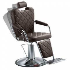 Cadeira Barbearia Reclinável e Hidráulica Texas Wood -Dompel