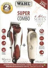 WAHL KIT MA�QUINA CORTE E ACABAMENTO MAGIC CLIP + HERO
