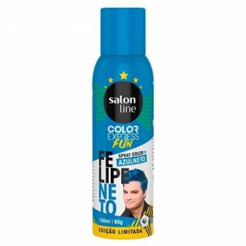 SALON LINE SPRAY COLOR FELIPE NETO COR AZULNETO 150ml
