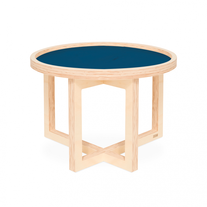 Mesa Vinil M Classic Blue | FITTO | Madeira Design e Arte