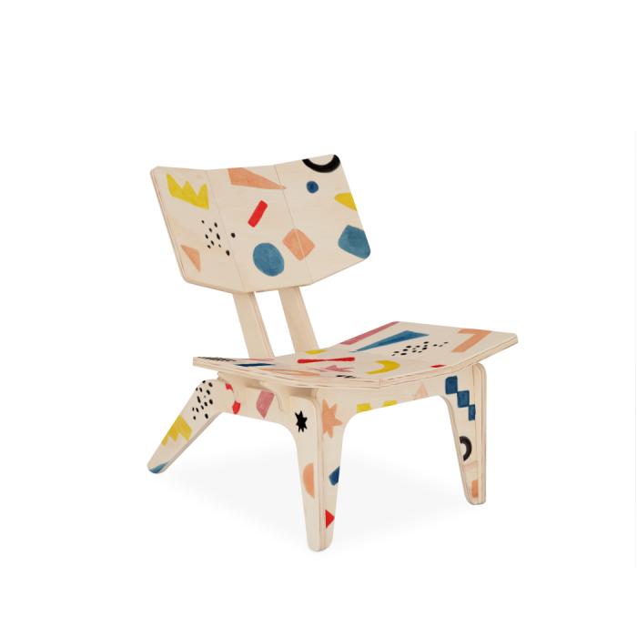 Cadeirinha Infantil Carambelinha Luciana Gnoatto Abstract Play Color | FITTO DESIGN